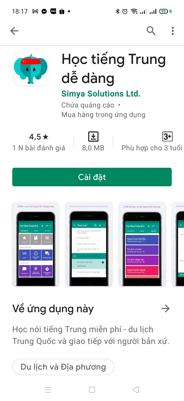 app học nói tiếng trung dễ dàng