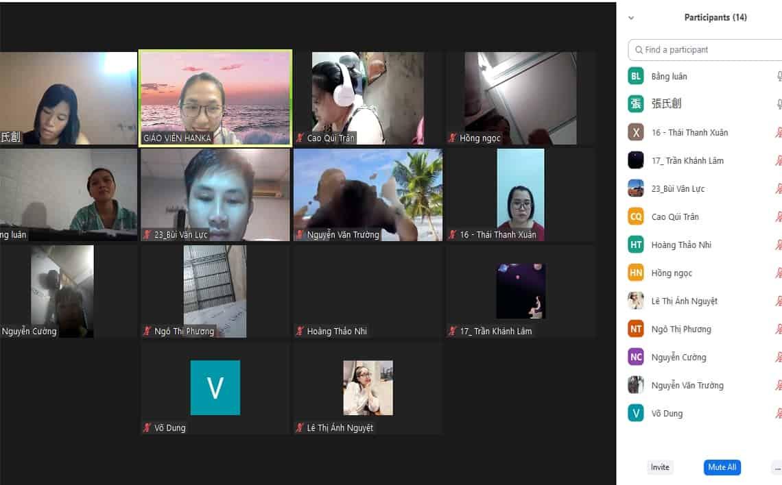 lớp học tiếng trung trực tuyến