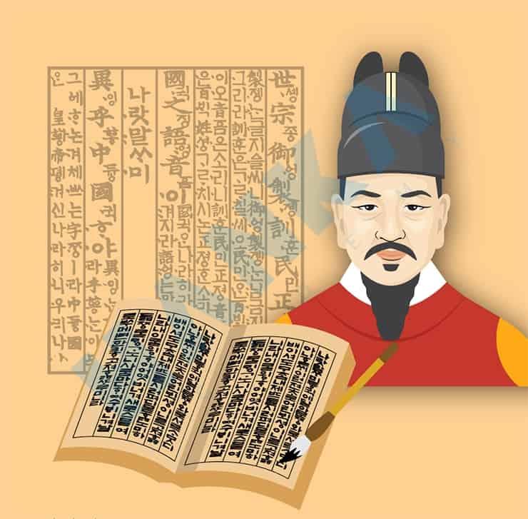 Bảng chữ cái tiếng Hàn được vua Sejong sáng tạo ra