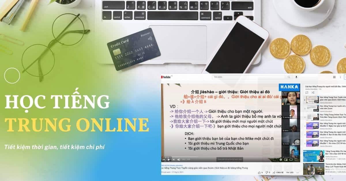 học tiếng trung online trên Youtube