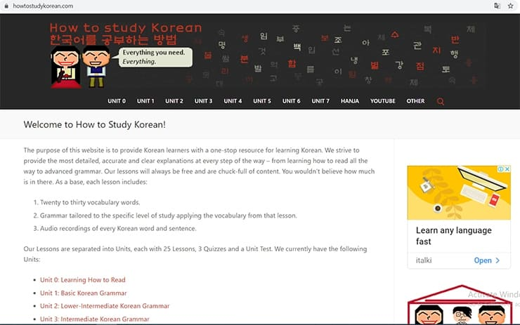 how to study korean